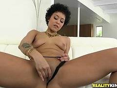 When she walked in to our place, she noticed that there was a column perfect for pole dancing. She sensually danced while we worshipped her amazing ass.